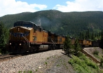 4 AC4400's crawl up the grade toward Moffat Tunnel
